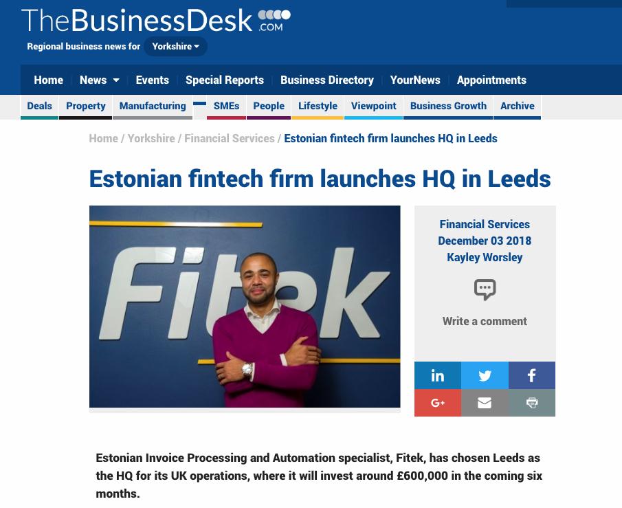 Fitek enters the UK market - In Nomine